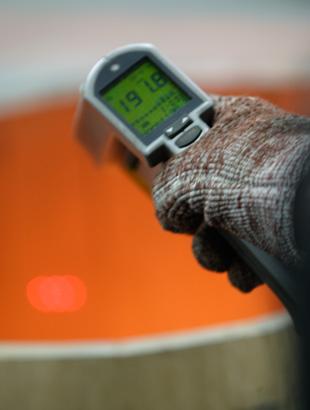 contrôle de la température de chauffe